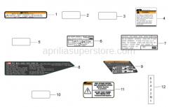 Frame - Plate Set and Decal - Aprilia - LABEL