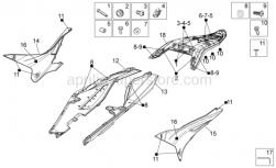 Frame - Rear Body I - Aprilia - Adhesive sponge 15x8