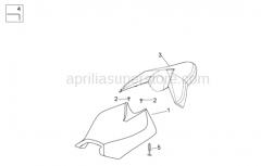 Frame - Saddle - Aprilia - Headlight supp.snap