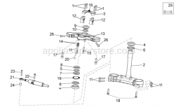 Frame - Steering - Aprilia - Screw w/ flange M6x12