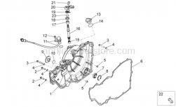 OEM Engine Parts Diagrams - Clutch Cover - Aprilia - Clutch lever return spring