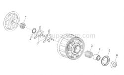 OEM Engine Parts Diagrams - Clutch I - Aprilia - Washer 31x44x0.9