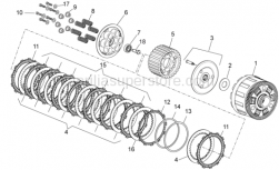 OEM Engine Parts Diagrams - Clutch II - Aprilia - Support assy.