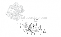 OEM Engine Parts Diagrams - Cover - Aprilia - Alternator cover black
