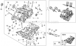 OEM Engine Parts Diagrams - Crank-Case I - Aprilia - Carter, pair