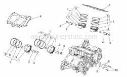 OEM Engine Parts Diagrams - Cylinder - Piston - Aprilia - Piston ring R mark