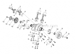 OEM Engine Parts Diagrams - Drive Shaft - Aprilia - Crankshaft cpl.