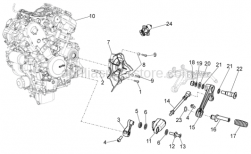 OEM Engine Parts Diagrams - Engine - Aprilia - Screw w/ flange