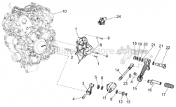 OEM Engine Parts Diagrams - Engine - Aprilia - Rear brake lever pin