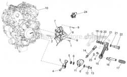 OEM Engine Parts Diagrams - Engine - Aprilia - Low nut M8