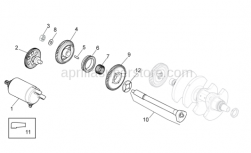 OEM Engine Parts Diagrams - Ignition Unit - Aprilia - Flanged nut M10x1