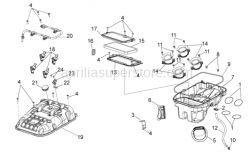 OEM Frame Parts Diagrams - Air Box - Aprilia - Filter housing cover
