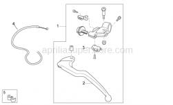 OEM Frame Parts Diagrams - Clutch Lever - Aprilia - Clutch cable