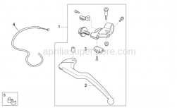 OEM Frame Parts Diagrams - Clutch Lever - Aprilia - Switch