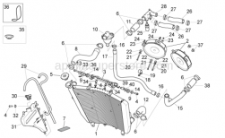 OEM Frame Parts Diagrams - Cooling System - Aprilia - Water cooler