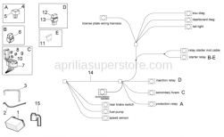 OEM Frame Parts Diagrams - Electrical System II - Aprilia - Battery 12V-12Ah
