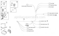 OEM Frame Parts Diagrams - Electrical System II - Aprilia - Terminal cap