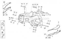 OEM Frame Parts Diagrams - Frame I - Aprilia - RH-LH Gasket