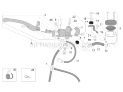 OEM Frame Parts Diagrams - Front Master Cylinder - Aprilia - Oil tank plate