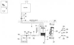 OEM Frame Parts Diagrams - Fuel Vapor Recovery System - Aprilia - Hose clip, green D11x6,6x1