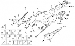 OEM Frame Parts Diagrams - Rear Body I - Aprilia - Left tail fairing