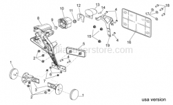 OEM Frame Parts Diagrams - Rear Body II - Aprilia - Number plate support