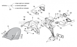 OEM Frame Parts Diagrams - Rear Body II - Aprilia - Phillips screw, SWP M5x20