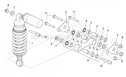 OEM Frame Parts Diagrams - Rear Shock Absorber - Aprilia - Shock absorber