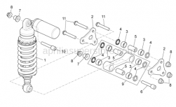 OEM Frame Parts Diagrams - Rear Shock Absorber - Aprilia - Self-locking nut