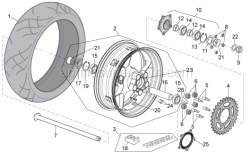 OEM Frame Parts Diagrams - Rear Wheel - Aprilia - Rear tyre 200/55-17 M/C