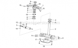 OEM Frame Parts Diagrams - Steering - Aprilia - Steering security plate
