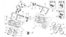 OEM Frame Parts Diagrams - Trottle Body - Aprilia - Rear Throttle body